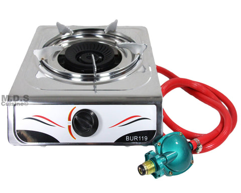 Stove Single Burner Propane Gas Stainless Steel Portable Camping Outdoor