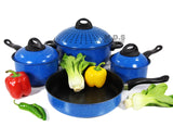 Cookware Set 7pc w/ Non-Stick Marble Coating, Easy Grip, Stay cold Handles,Steel