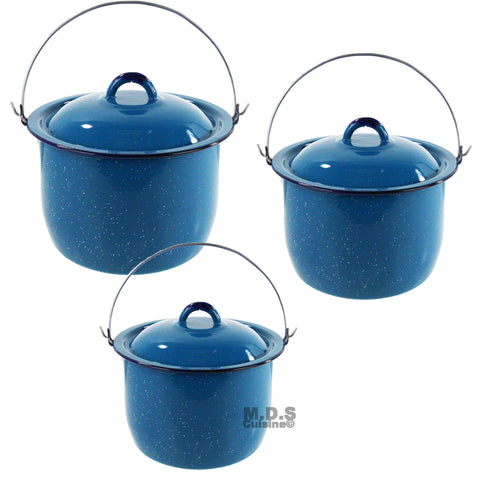 Pot Set 3pc Enamel Dutch Oven Stock Pot Peltre Olla Traditional 6.5QT 9QT 10QT