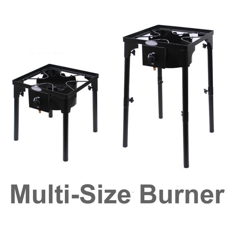 Burner with Multi Size Stand Big Propane Burner Outdoor Heavy Duty