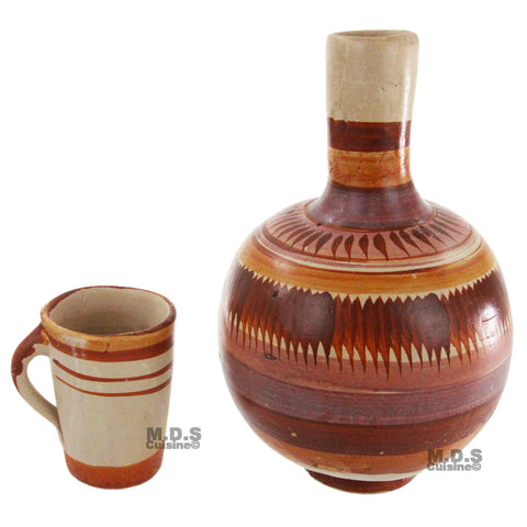Botellon de Barro sin Plomo Terracota Water Jug 4QT Lead free Traditional