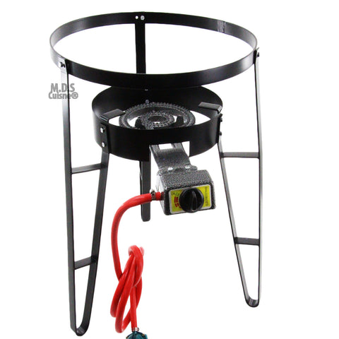 Burner w/ Stand Heavy Duty Metal Steel for Comal Propane Gas Regulator Portable