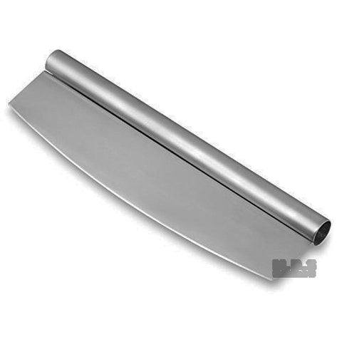 "Pizza and Pastry Rocking Cutter Knife 14"" Professional Commercial Grade Stainless Steel"