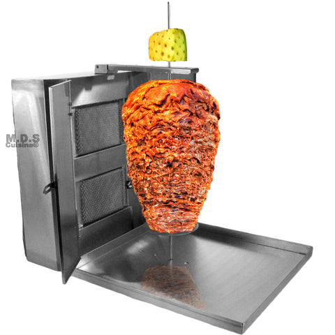 Trompo Tacos Al Pastor Authentic Stainless Steel Machine Heavy Duty Commercial Ceramic Infrared