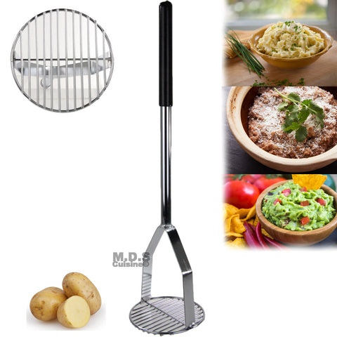 "Smasher Potato Bean Smash Commercial Heavy Duty Stainless Steel 24"" inch"