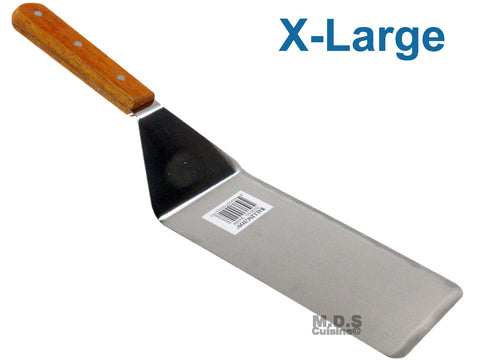 Spatula XLarge Serving Scrapper Solid Wood Handle Stainless Steel Blade Flexible Turner.
