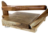 "Tortilla Press Wood Tortilladora de Madera Barnizada Mezquite Tortilla Press Heavy Duty -11.5""x 11"""