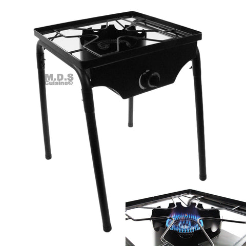 Single Burner Outdoor Stand Stove Cooker w/ Regulator and piezo ignitor striker