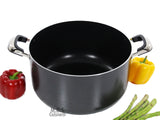 18Qt Non Stick Heavy Gauge Aluminum Dutch Oven Casserole Pot Glass Lid New