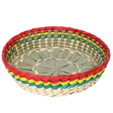 "Tortilla Holder 7.5"" Tortillera de Palma Hecho de Mano Handmade Decor Traditional Mexicana Palmleaf"