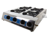 Stove Portable 4 Quad Burner Propane Gas Camping 4 Heads Outdoor Stove Grill BBQ New