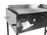 "Ematik Taco Cart 36"" Steel Griddle Comal Plancha with 3-Steamers Heavy Duty Table Portable Commercial Catering"