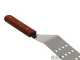 "Turner Grill Bbq Stainless Steel Spatula 12"" With Perforation for Non Stick Riveted Wood Handle"