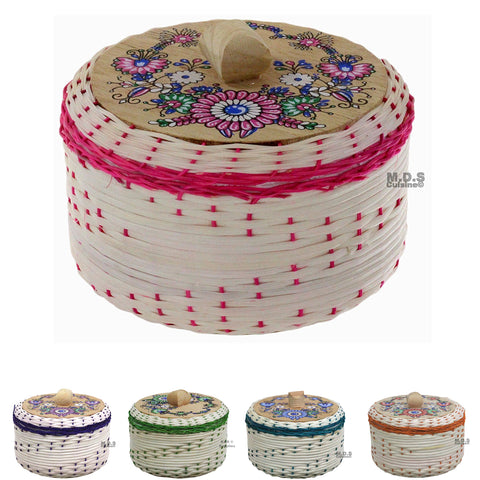 "Tortilla Warmer 9"" Tortillero de Mimbre Traditional Wicker Made in Mexico Traditional Handmade Styrofoam"