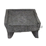"Metate Mortar & Pestle 14"" Molcajete Lavastone Aztec Mayan Toltec Volcanic Rock Ancient Traditional Pre-Hispanic Antique Grinding Stone Metlapil Mano"