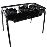 Stove Triple Burner Heavy Duty Gas Propane Outdoor Camping BBQ Grill Griddle