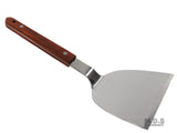Turner Burger Heavy Duty Polished Stainless Steel Grill Spatula Scraper Wood Handle