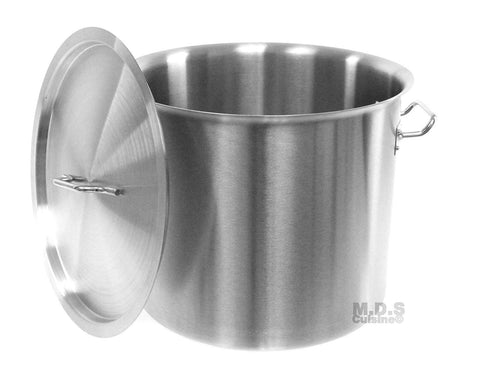 Stock-Pot 24 Qt Stainless Steel Commercial Heavy Duty Kitchen Restaurant Olla Steamer Pot with Lid (24 Qt StockPot)