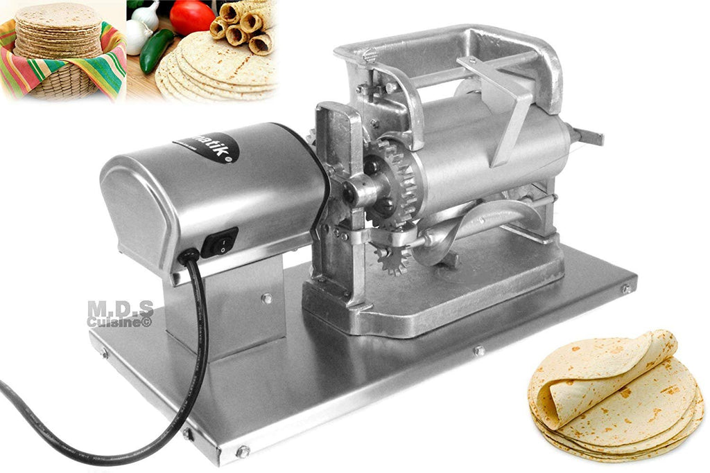 Tortilla Press Roller Maker Electric Stainless Steel Para Corn Masa Ro Kitchen Restaurant Supplies
