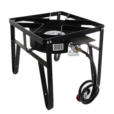 Single High Pressure Gas Burner Square Patio Outdoor Stove Propane Camping Heavy Duty