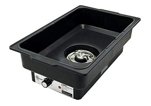 Water Pan Electric Black Polypropylene Commercial Restaurant Heavy Duty Chafer Chaffing Steam Table Food Warmer Tray