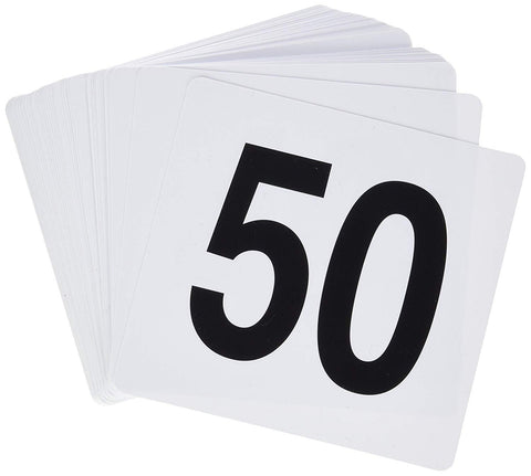 Numbers for Restaurant Plastic Cards Commercial Kitchen Guest Number Holder 1-50