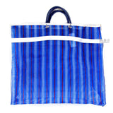 "Shopping Bags Mercado Mexican Tote Grocery Handmade 15.5"" X 12.5"" Carrying Assorted Flannel Colored Mesh Reusable Market Bag Cocina Mexicano ((M) Blue Mexican Handbag)"
