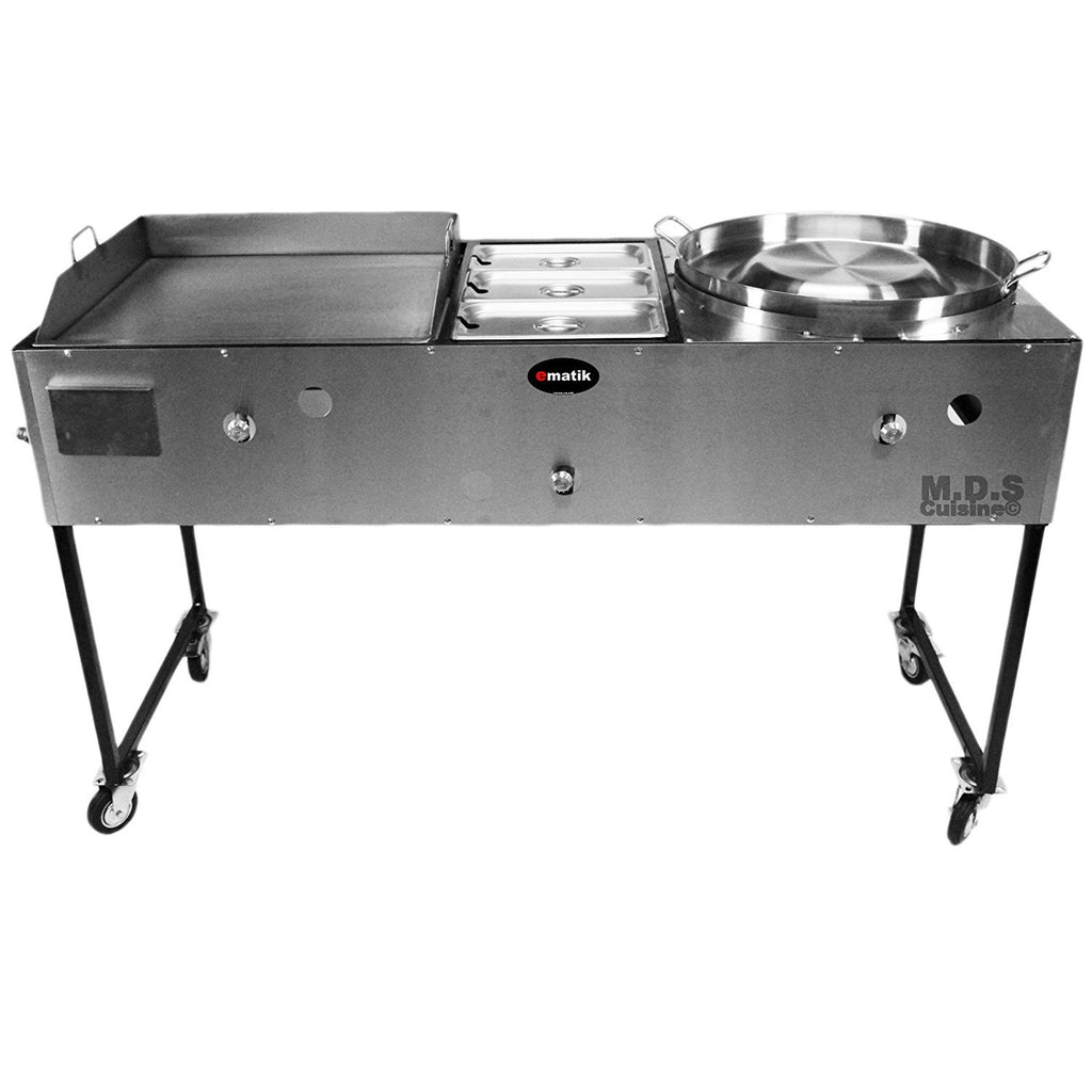 Ematic Catering Cart 24 Griddle 100 Pure Heavy Duty