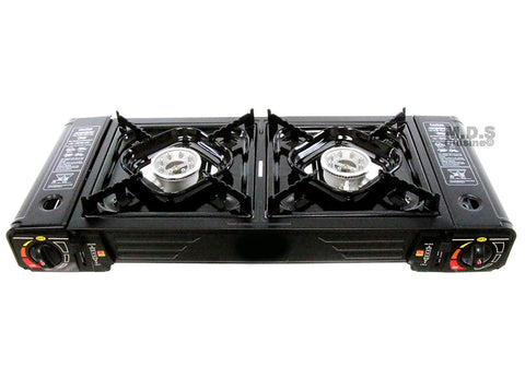 Stove Portable Dual Butane Gas 2 Burner Outdoor Camping tailgate Double Stoves