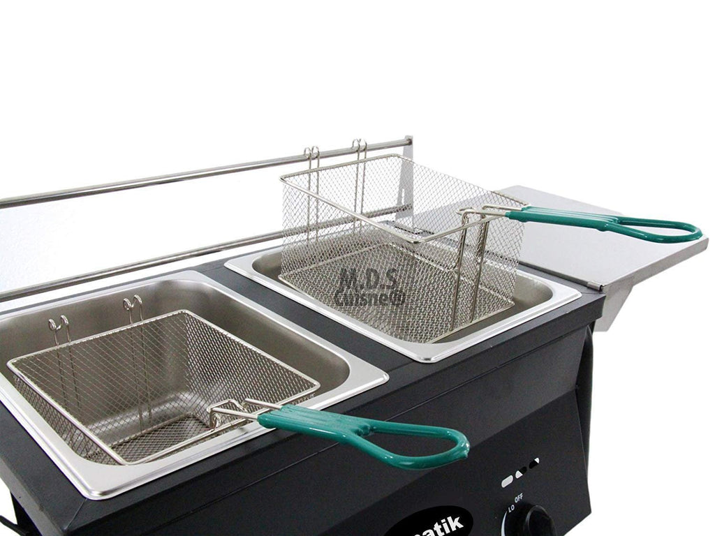 Ematik Deep Fryer Dual Wire Basket Stainless Steel 20 Qt