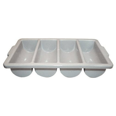 Winco PL-4B 4-Compartment Cutlery Bin, Set of 6