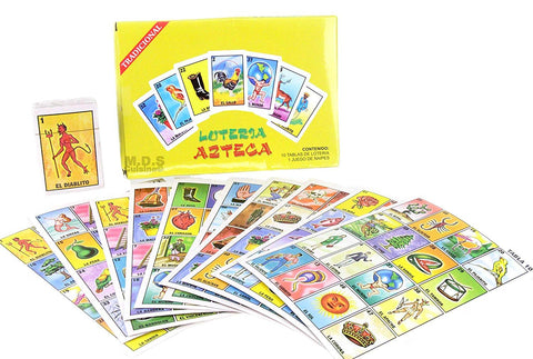 Ematik Loteria Azteca 10 Player Mexican Bingo Juego De Lotería Mexicano Traditional Authentic Ten Cards 1 Juego De Naipes Boardgame