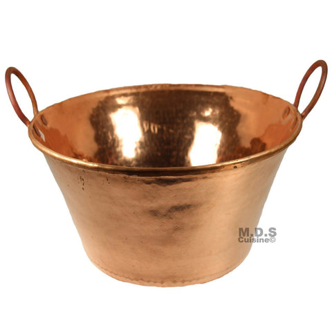 "Cazo De Cobre Para Carnitas Large 13"" Heavy Duty Gauge Copper 100% Made Mexico"