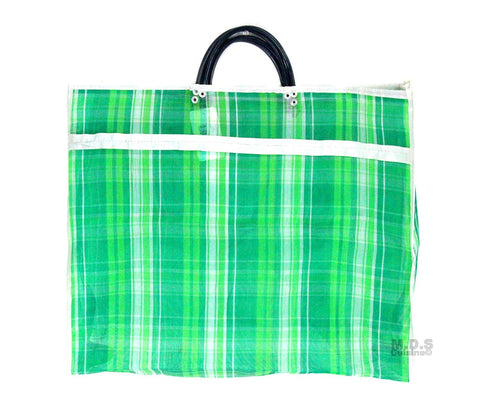 "Shopping Bags Mercado Mexican Tote Grocery Handmade 15.5"" X 12.5"" Carrying Assorted Flannel Colored Mesh Reusable Market Bag Cocina Mexicano ((M) Green Mexican Handbag)"