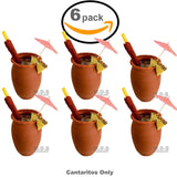 Cantarito De Barro 12 Oz Jarrito Loco Traditional Authentic Margarita Michelada Mexican Lead Free Red Clay ((2) Cantaritos)