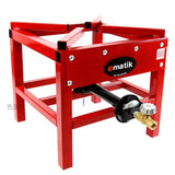 Ematik High Pressure Outdoor Propane Gas Single Burner Durable 100,000 BTU Red Steel Cooker Stove with Adjustable 20 PSI Hose and Regulator Made in The U.S.A.