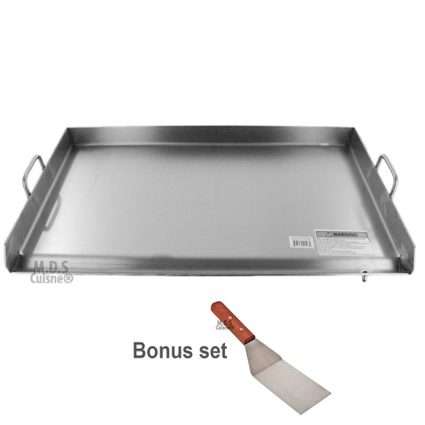"Stainless Steel Flat Top Griddle 36"" Portable Comal Plancha Outdoor Stove Catering"