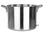 Stock Pot 14-Qt Heavy Duty 4mm Professional (1200) Aluminum Grade Extra-thick Reinforced Rim and Bottom Commercial Restaurant Pot