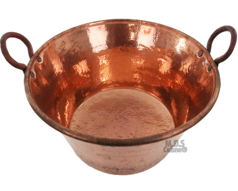 "Cazo De Cobre Para Carnitas Large 24"" Heavy Duty Gauge Copper 100% Made Mexico"