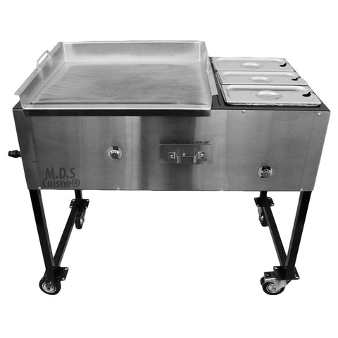 Ematik Taco Cart Stainless Steel Griddle Commercial Catering Portable Burner Tacos NEW