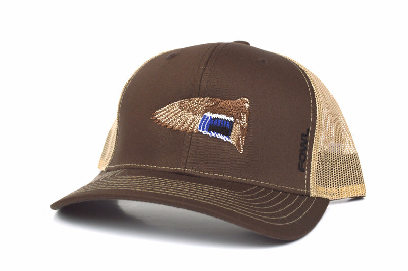 Classic Wing Collection Mallard Brown/Khaki Snapback - fowl