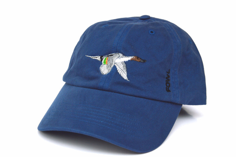 Washed Hat Collection Blue Pintail - fowl