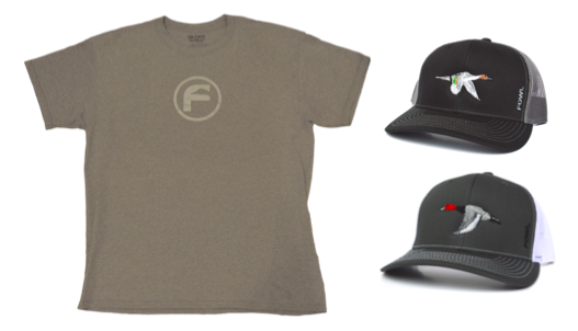 Bundle: F-Logo Shirt X Black/Grey Pintail X Grey/ White Redhead - fowl