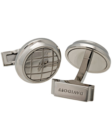 "Davidoff - ""Velero"" Material 316l Polished Steel,  With Dome Pattern, Cufflinks - 20929"