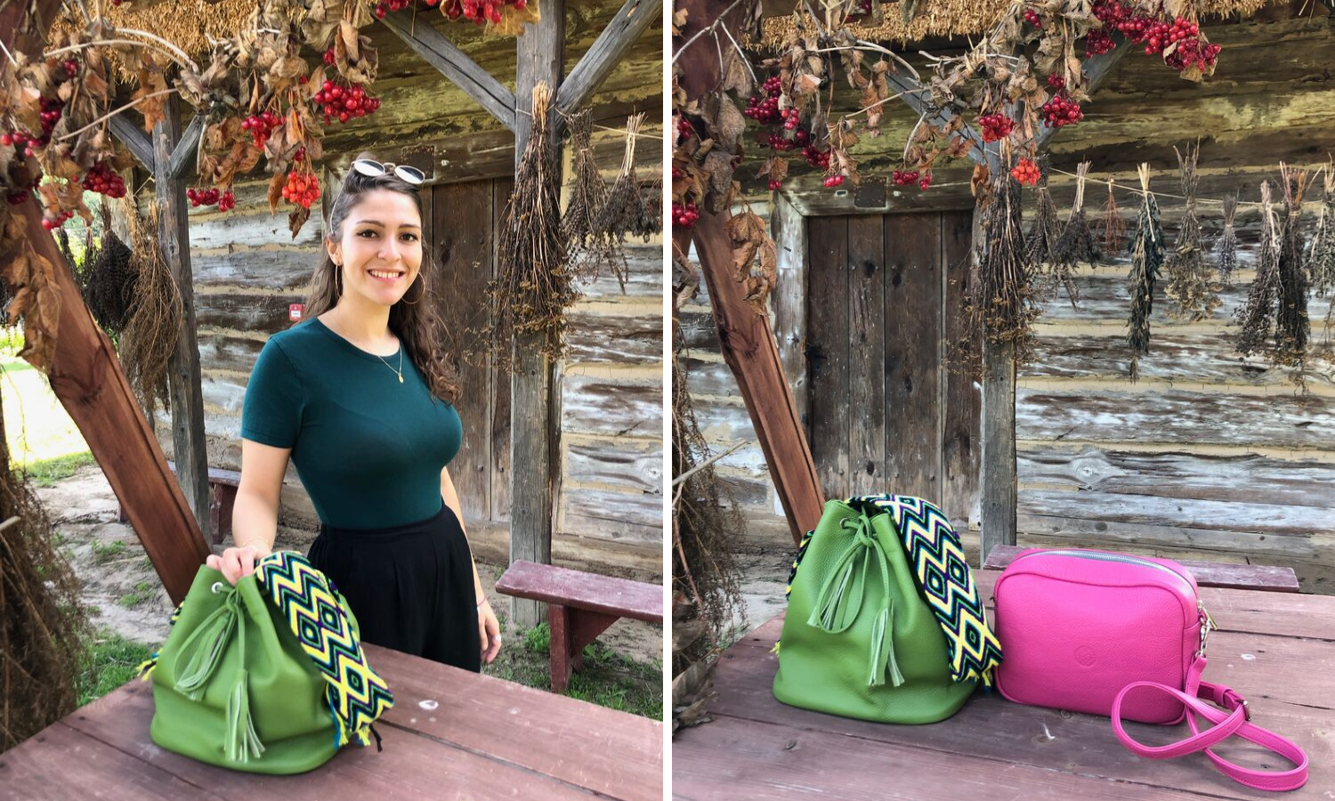 leather wayuu bag by luloplanet avocado green lookbook