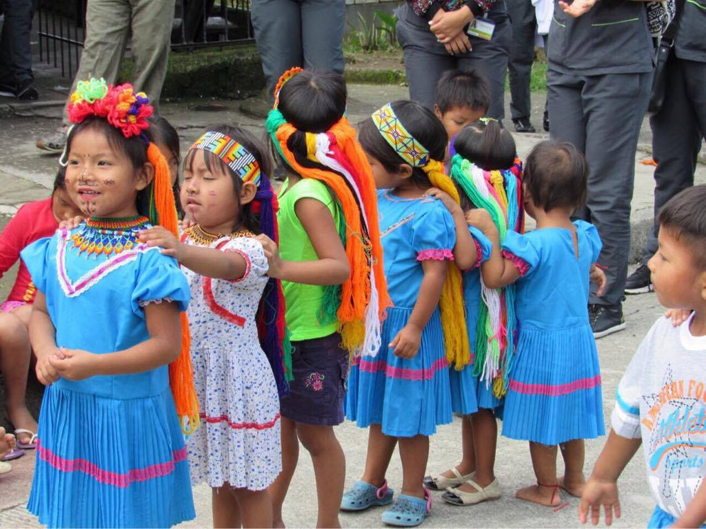Charity action of luloplanet embera children in colombia wayuubags