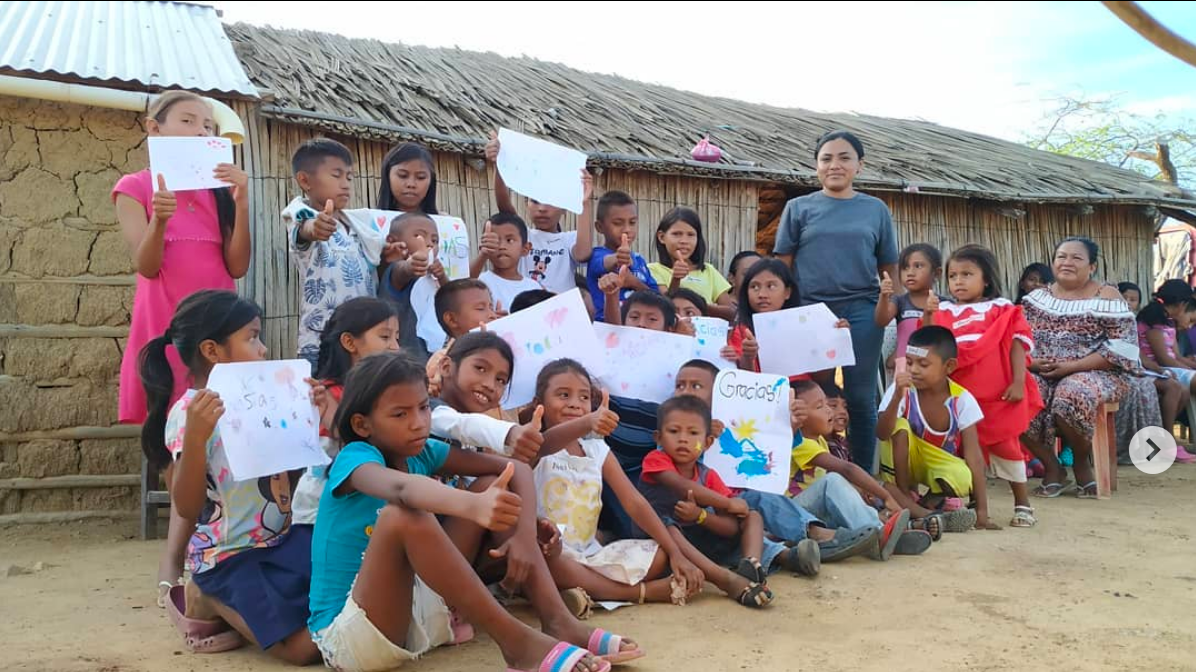 Wayuu children thanking for help