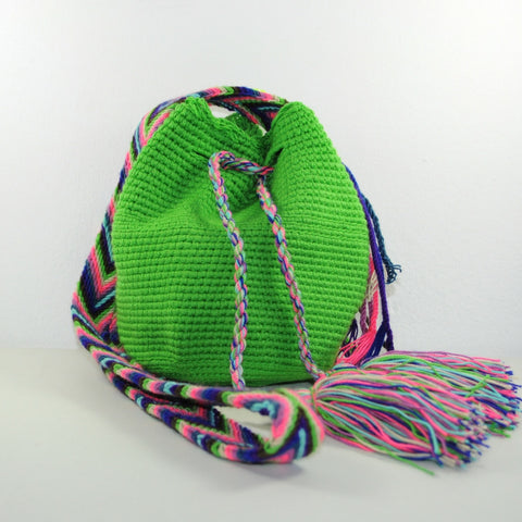 Mochila Wayuu hand woven and hand crocheted in Colombia, shoulder, crossbody bag, pouch