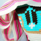 Bucket Tote Bag handmade by Wayuu women from La Guajira in Colombia