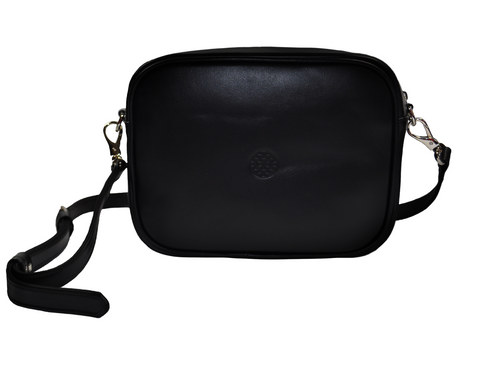 black leather messenger bag with removable strapstrap